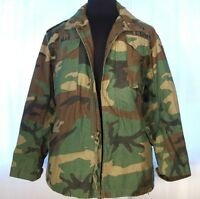 Official US MILITARY Woodland Camo Cold Weather FIELD COAT Small Regular Combat