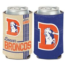 DENVER BRONCOS SINCE 1960 RETRO LOGO KADDY KOOZIE CAN HOLDER NEW WINCRAFT