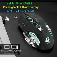 X8 Wireless Rechargeable LED light Optical Backlightin Ergonomic Gaming Mouse UK