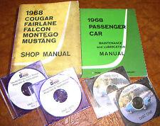 1968 Mercury Cougar Montego Cyclone MX Shop Manuals & Parts Ford Torino Falcon