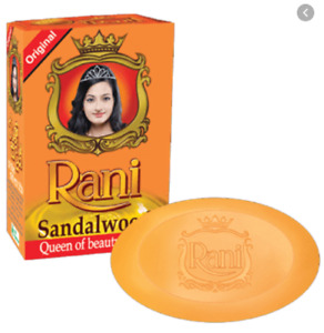 Rani  Sandalwood Soap  Original Queen  Of  Beauty Soap 100%  Vegetarian Natural