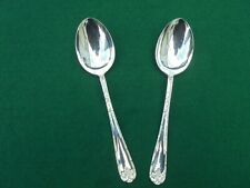 RODD SILVER PLATE ACANTHUS PAIR SERVING SPOONS NEW UNUSED