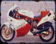 DUCATI 750F1 Santamonica 88 3 A4 Foto Impresión moto antigua añejada De