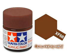 TAMIYA COLOR FLAT ACRYLIC PAINT XF-68 NATO Brown MODEL KIT PAINT 10ml