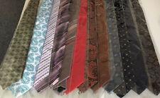 12 Krawatten Schlips Binder breit verschiedene Muster Farben MwSt günstig
