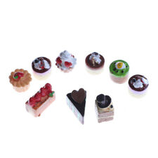 8Pcs Dollhouse Miniature Food Chocolate Strawberry Cakes Cupcake Toys&f