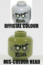 RARE LEGO MISPRINT OLIVE ZOMBIE HEAD PART X1 ERROR MONSTER FIGHTERS VGC