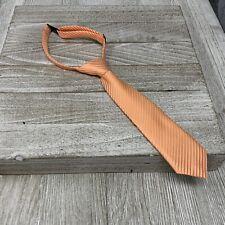 Retreez Junior Boys Necktie Neck Strap Stripe Textured Light Orange 2-4 Years