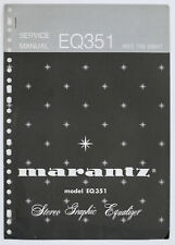 Marantz Model eq351 Original Stereo Graphic Equalizer Service Manual Top o126