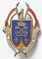 Insigne 1° RÉGIMENT DE DRAGONS ROYAL D'ABORD Guerre Algérie ORIGINAL Cavalerie 2