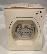Heart Gifts Happy 50 Anniversary Handpainted Ornament by Teresa Thibault