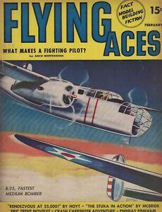 1941 Flying Aces February Pulp - Canada guards her back door; Stuka; Hellfire;