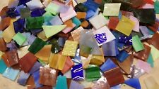 500 colorful hand cut stained glass mosaic tiles