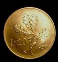 REPUBBLICA ITALIANA 20 Lire 1957 al 2001 FDC (UNC) / PROOF