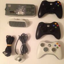Microsoft Xbox 360 3x GamePads/Controller Cable/ChatPad/Hard Drive/WebCam Job