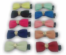 Toddlers Baby Hair Clips Coloured Bows Bulk Buy Joblot New Accesories Head Piece