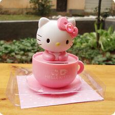 Hello Kitty Vehicle Decor Solar Energy Bobble Head Figure Doll PINK