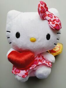 Beanie Babies Hello Kitty Pink & Red With Hearts # 40978 New SANRIO💖