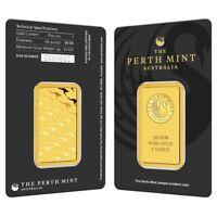 Lot of 2 - 1 oz Perth Mint Gold Bar .9999 Fine (In Assay)
