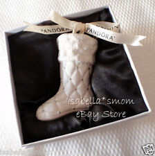 LIMITED EDITION 2012 STOCKING Genuine PANDORA Porcelain CHRISTMAS ORNAMENT New!