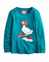 JOULES GIRLS APPLIQUE TOP CHRISTMAS CRAKER