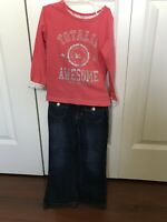 Carters & Old Navy Toddler girls outfit 3t Jeans Long Sleeve top shirt pants lot