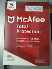 McAfee Total Protection 2020 5 Devices Physical Key Card