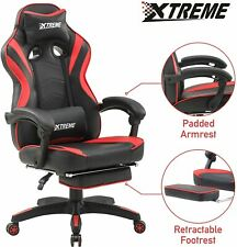 XTREME Reclining Gaming Gamer Chair Ergonomic Office Desk PC Computer Recliner