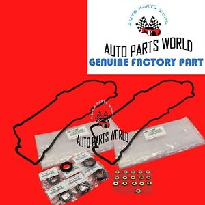 GENUINE TOYOTA 4RUNNER TACOMA TUNDRA 3.4L VALVE COVER GASKETS & SPARK PLUG SEALS