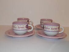 4 x Rayware Purple Pink Small Filter Coffee Espresso Cups and Saucers  Lovely