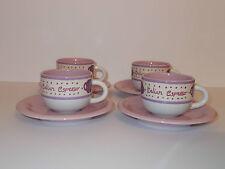 4 x Rayware Viola Rosa Piccolo Filtro Caffè Espresso tazze e piattini BELLA