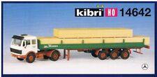 Kibri Bausatz H0=1:87 14642 Mercedes-Benz MB-ZM m Pritschenauflieger Schnittholz