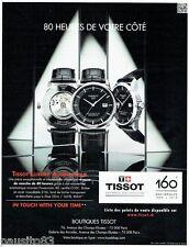 PUBLICITE ADVERTISING 116  2013  Montres Tissot Luxury Automatique 80 Heures  an