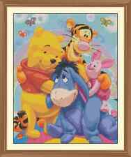 WINNIE THE POOH HUG CROSS STITCH CHART ONLY 12.0  x 9.6Inches