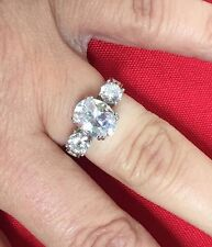 Hsn Victoria Wieck 925 Art Deco Inspired 3 Stone Cz Engagement Ring Sz 7