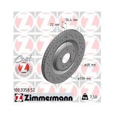 2x Disque de frein ZIMMERMANN (100.3358.52)