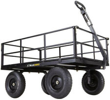 Steel Utility Cart 1,200 lb. Heavy-Duty Durable Patented 2n1 Convertible Handle