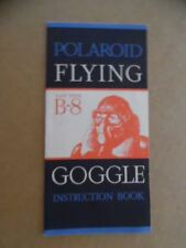 c.1945 Polaroid B-8 AAF Style Flying Google Brochure Instruction Book Vintage VG