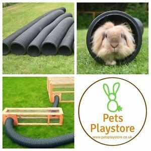Pet Rabbit, Guinea Pig etc Flexible 6 inch & 8 inch Diameter Play Tunnel