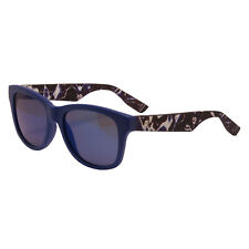 Alexander McQueen - Matt Blue Marble Rectangular Classic Sunglasses with Case