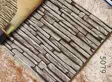 Antique 3D Stone Slate Dark Grey Project Wallpaper Cafe Restaurant Shop 5079