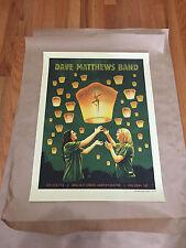 DAVE MATTHEWS BAND POSTER 7/23/14 WALNUT CREEK RALEIGH NC RARE