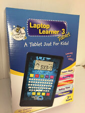 Laptop Learner 3 Tablet For Kids Learn Math Spelling & play Games Free Blue Case