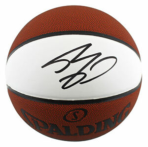 Lakers Shaquille O'Neal Authentic Signed Spalding White Panel Basketball BAS Wit
