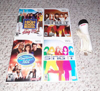 Disney Sing It/Pop Hits/High School Musical/Idol w/ Microphone Nintendo Wii Lot
