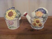 "New ListingVintage Ceramic Salt & Pepper Shakers ""Flower Pot and Water/Sprinkler Can"""