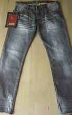 NWT PRPS Goods & Co Fit Rambler jeans Gray selvedge/Brown skinny fit size 31
