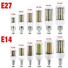 220~240V E27 E14 LED LUMIÈRE AMPOULE MAÏS 5736 LUSTRE 5/7/9/12/15/20W LAMP 4BE2