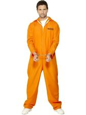 Mens Escaped Prisoner Fancy Dress Costume Men's Convict Outfit New by Smiffys
