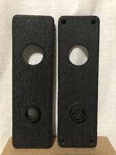 Set Of 2 Matching Front & Back Cast Iron Doorknob Backplates